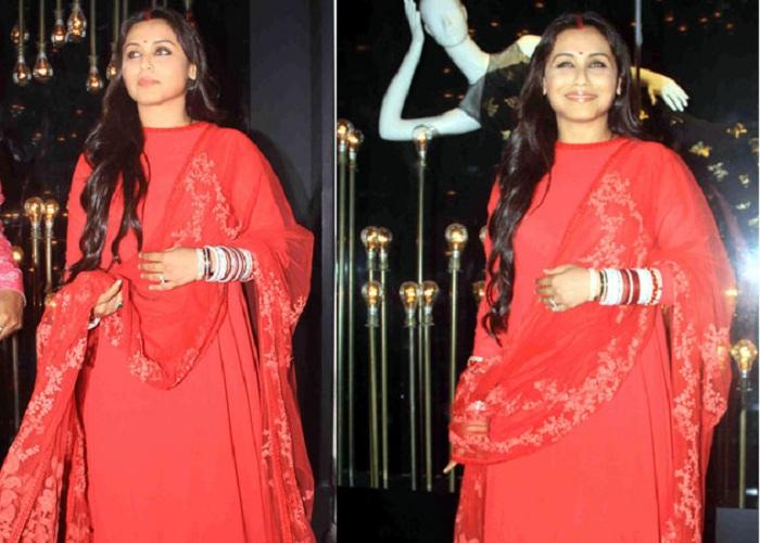 Post-wedding look Rani Mukherjee