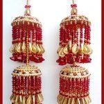 Red beads and gold tear drop Kaliren