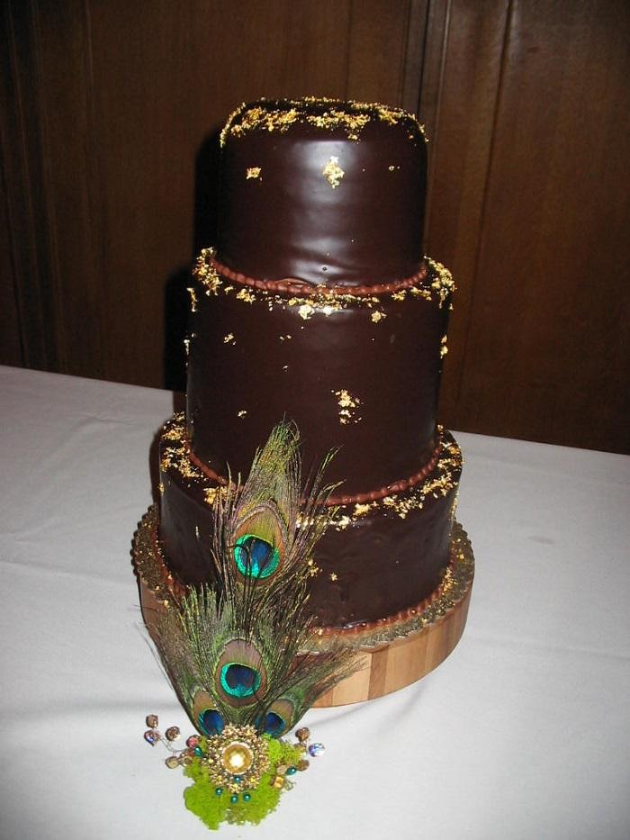 Dark-Chocolate Indian wedding cake