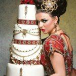 themed Indian wedding cake