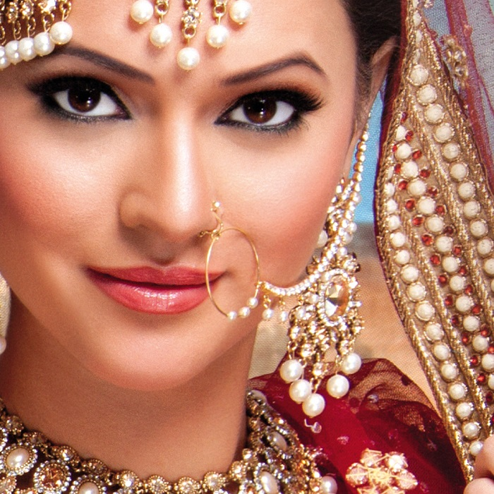 Nath or nose rings for Indian wedding jewellery