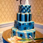 Art-Deco Inspired wedding cake