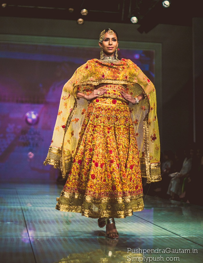 Exclusive bridal wear from Tarun Tahiliani at Indian Bridal Fashion Week Delhi 2014
