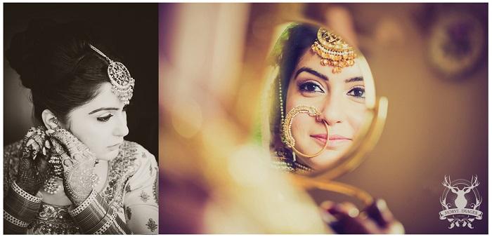 Getting ready bridal photo shoot Morvi Kumari