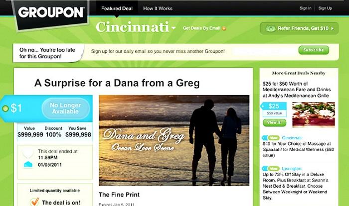 website wedding proposal