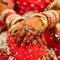 Red bridal attire