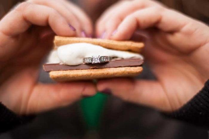 engagement ring sandwich
