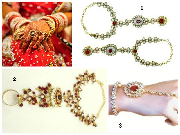 hand jewelry-Indian bridal jewelry styles