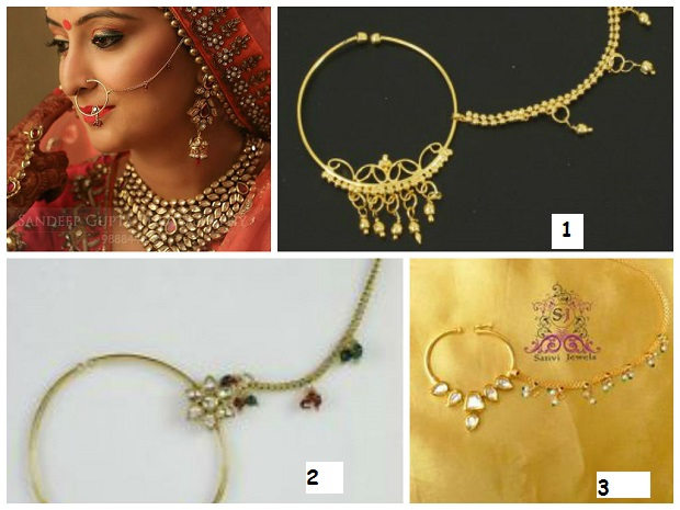 nose rings-Indian bridal Jewelry styles