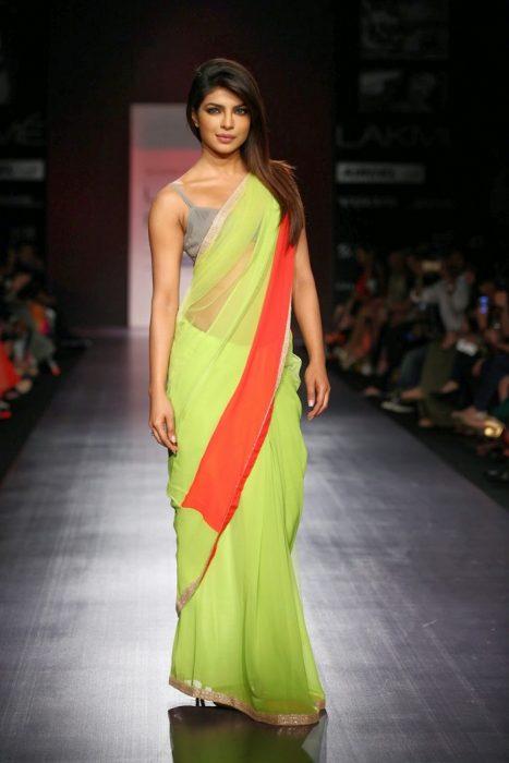 Basic saree drape