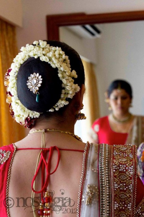 Traditional Bun-Wedding hairstyles for Indian brides