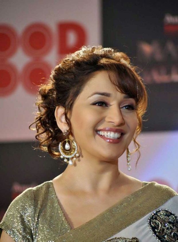Madhuri Dixit bun hairstyle-inspiration for brides