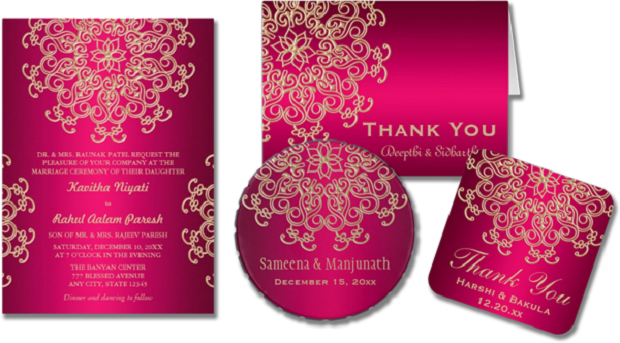 Indian winter wedding invitations