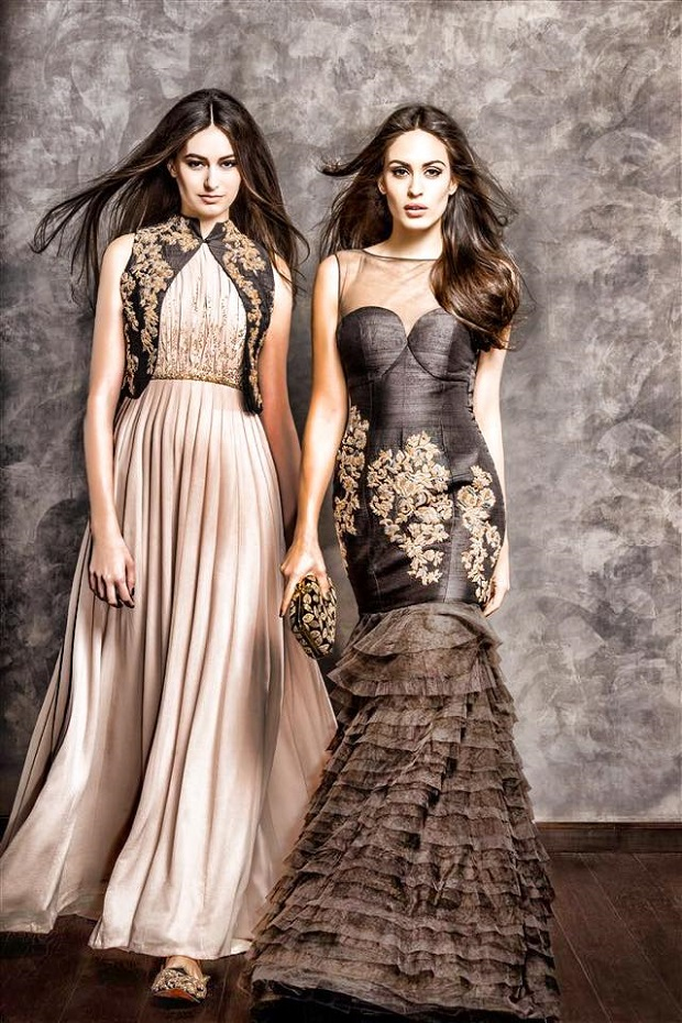 Modern yet traditional bridal attire from Shyamal Bhumika Spring Couture collection 2015
