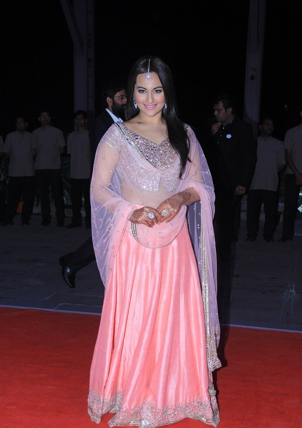 sonakshi-sinha at her brother's wedding