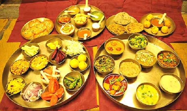 wonderful food at an Indian wedding catering