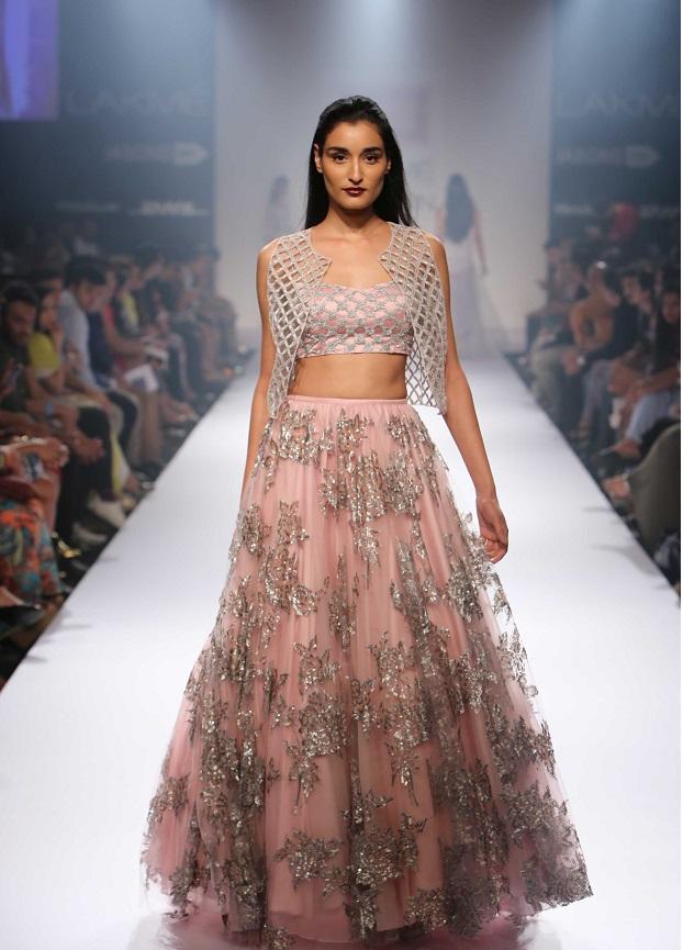 crop top wedding lehenga shela khan