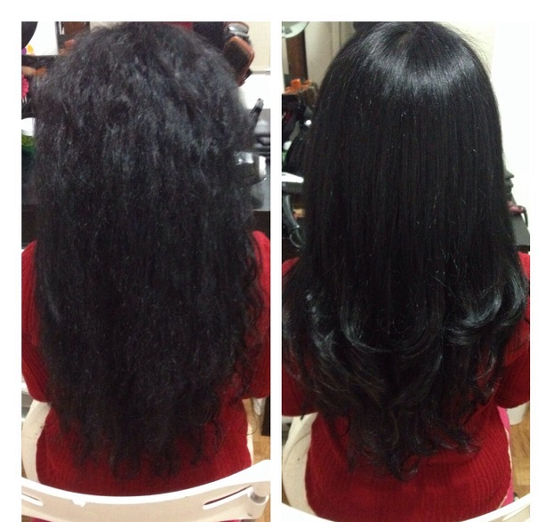 get rid of dry dull hair