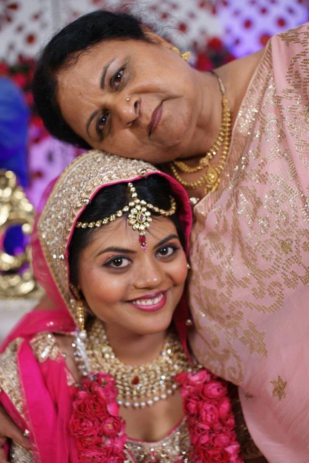 mother of the Indian bride Beautiful pink silver lehenga Real bride real Indian Punjabi wedding