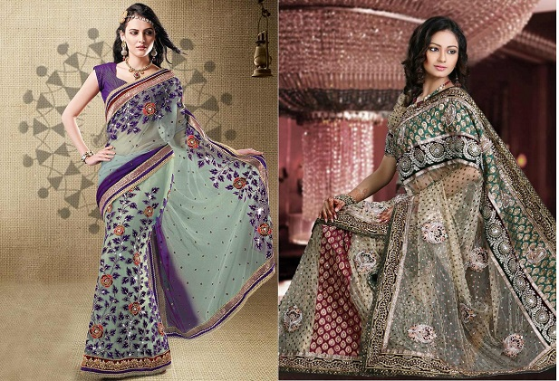 Desert sage indian wedding sari colour from pantone