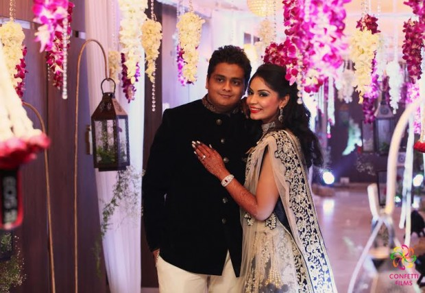 Beautiful real Indian wedding with purple beige and black colours