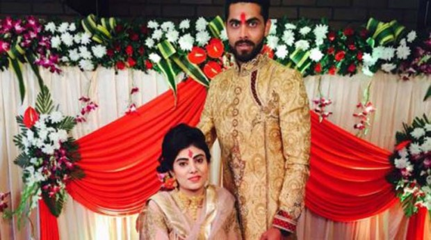 Ravindra Jadeja and Reeva ring ceremony engagement pics