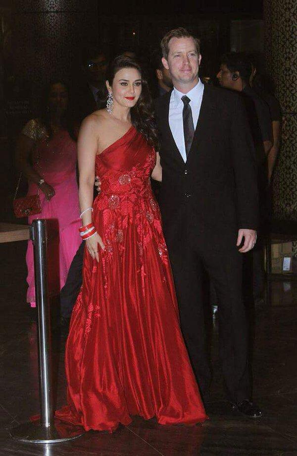 preity zinta wedding reception photos