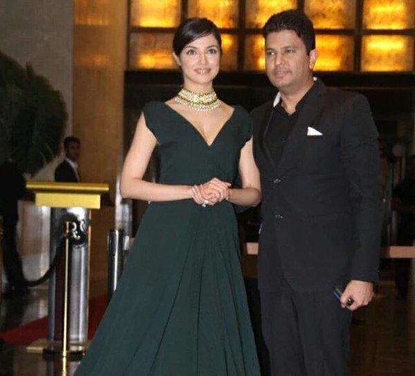 Divya Khosla at Preity Zinta reception