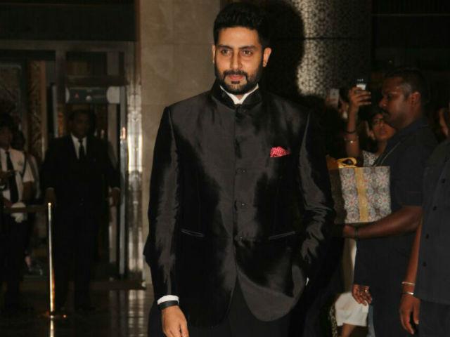 Abhishek Bacchan at Preity zinta reception
