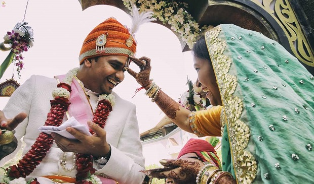 Baraat real Indian wedding in Daman by Confetti Films