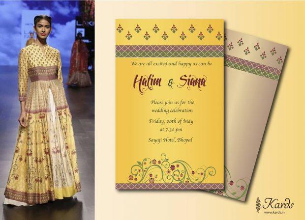 invitations matching bridal lehenga