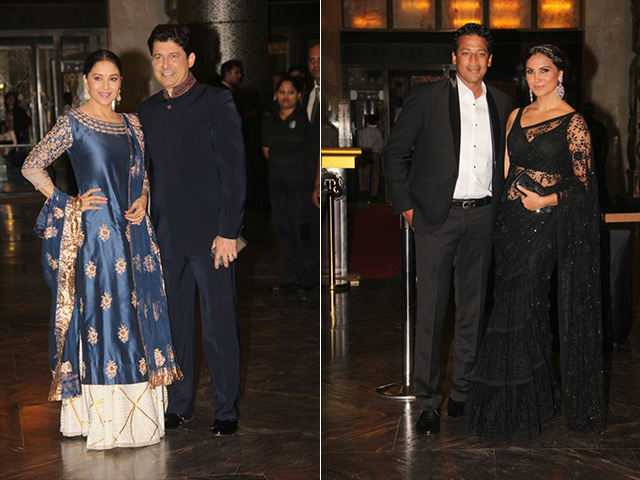 Lara Dutta and Mahesh Bhupati at Preity Zinta reception