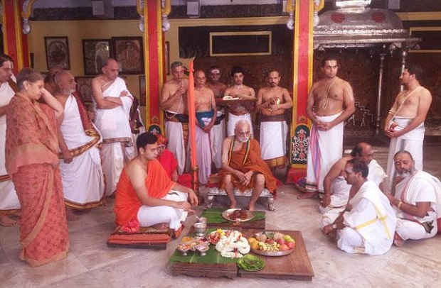 Royal wedding in Mysore Palace-pada puja