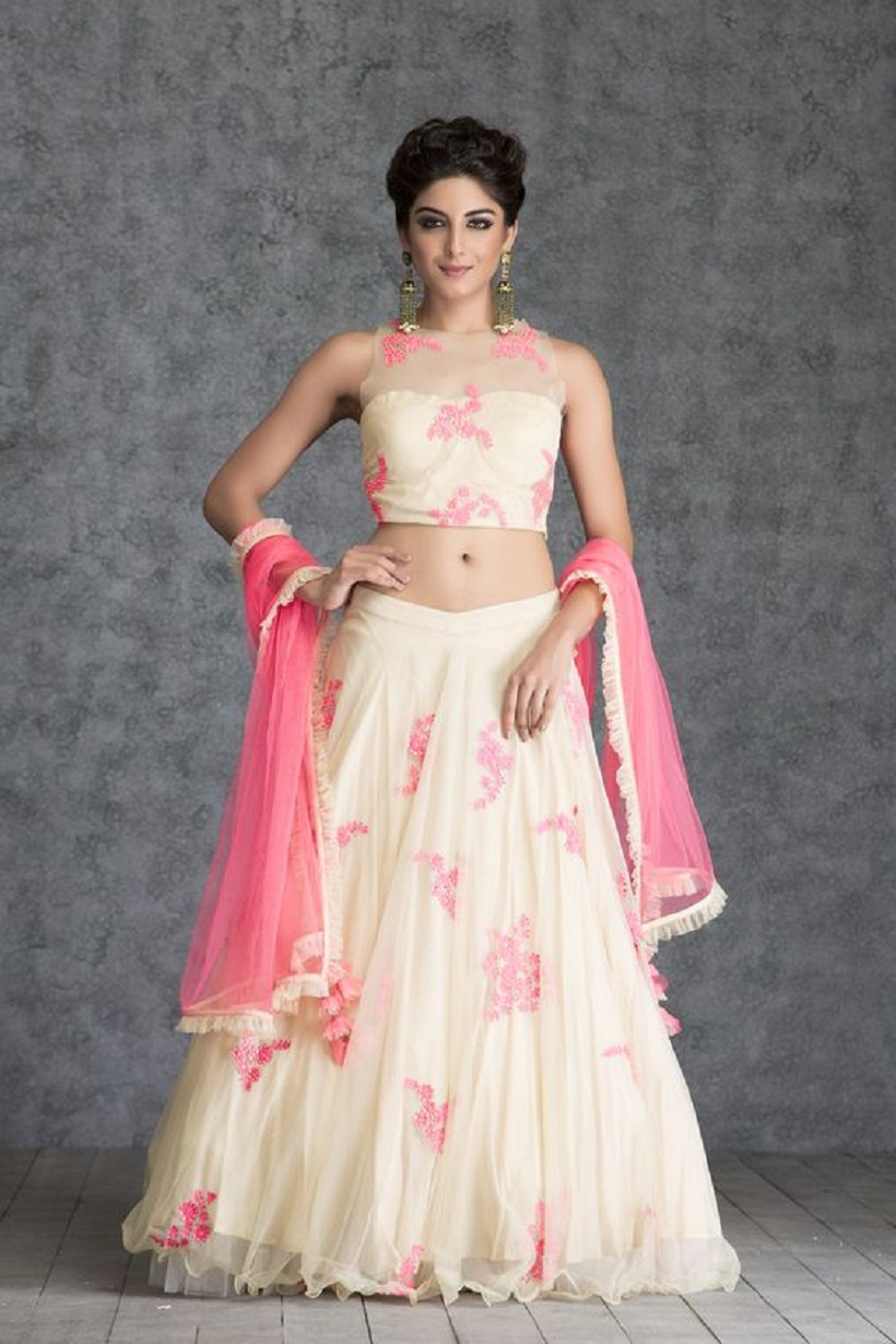 sleeveless bridal lehenga