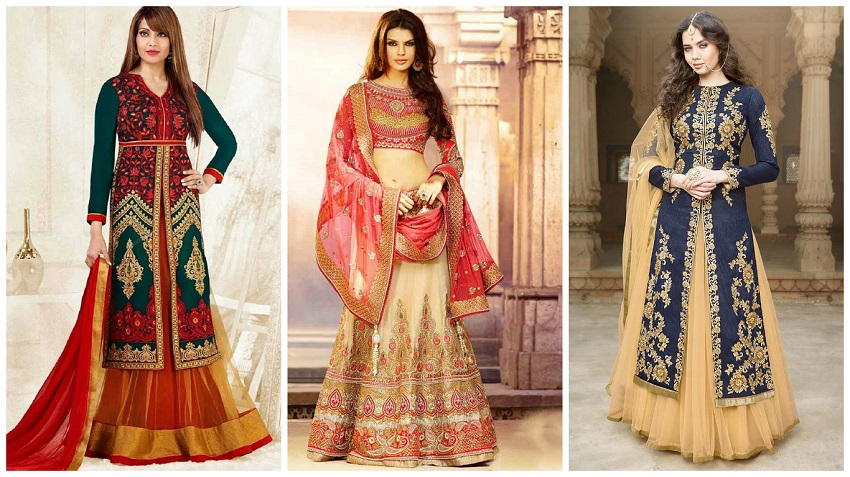 long sleeved lehenga cholis