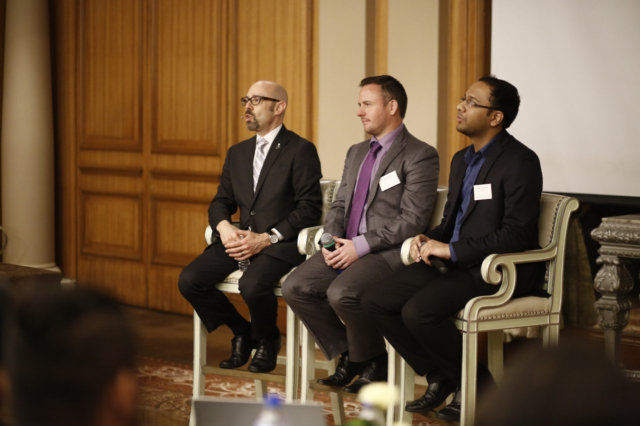 Discussion Panel: Alan Berg with Ireland Business Development Manager Jonathan Bryans and Indian Business Development Manager, Karan Singhania