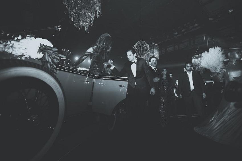 vintage car cineyug celebration wedding in Goa