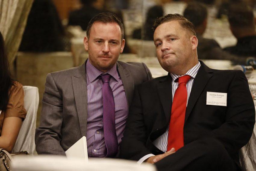 Johnathan Bryans and Jonner Kerrigan at the Indian Wedding Summit 2016