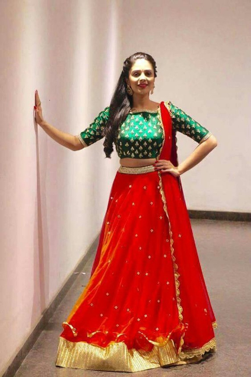 bridal half sari