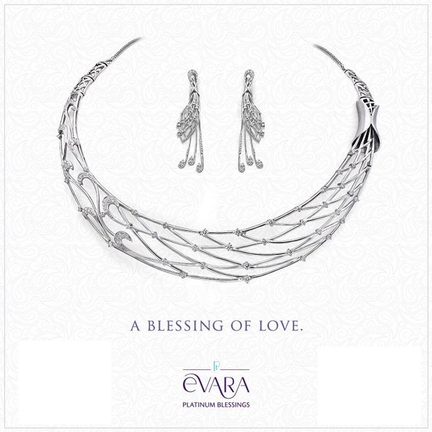 Evara platinum jewelery collection