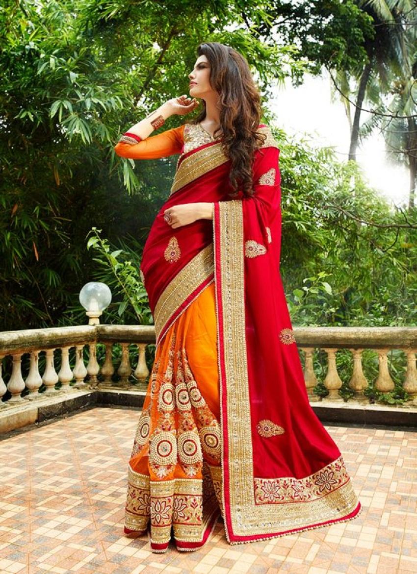 modern bridal sari