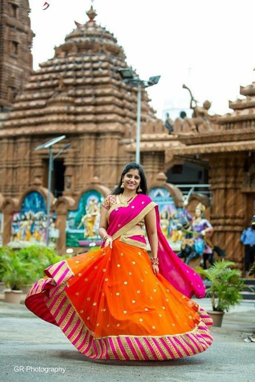 bridal hybrid sari