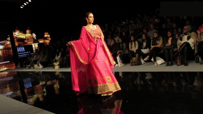 pink lehenga at Braun India Fashion Week 2016 bridal wear