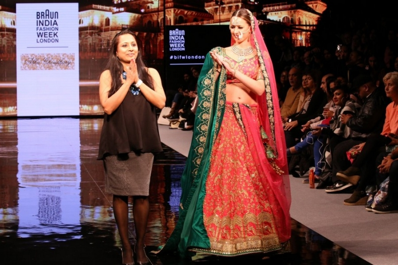 pink and green lehenga Braun India Fashion Week 2016