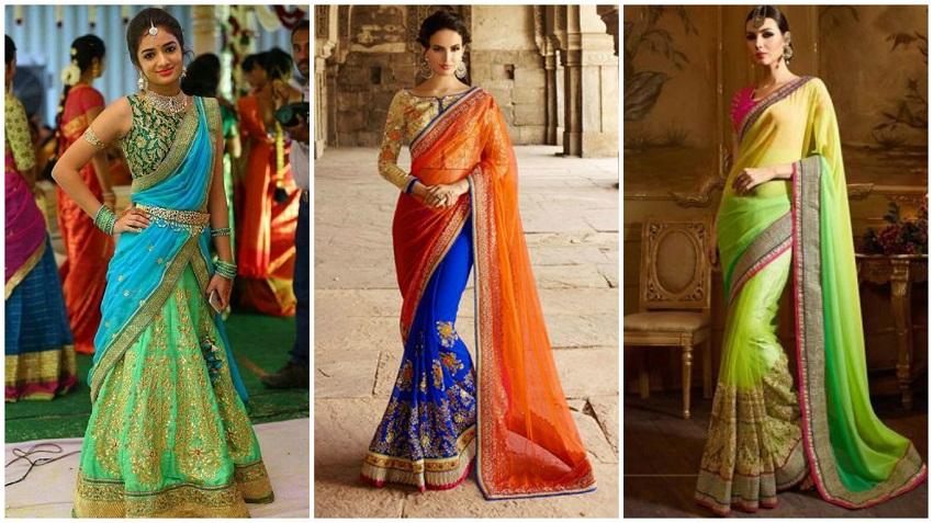 modern bridal saree