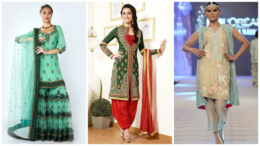 different types of bottom wear for Indian bridal outfits