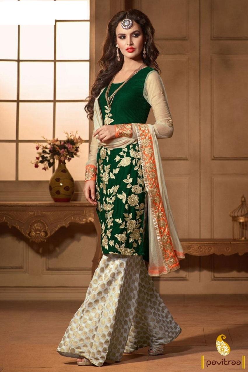 different bridal bottom wear for Indian bridal kurtis