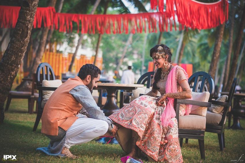 Mehendi ceremony in Grand Hyatt Goa