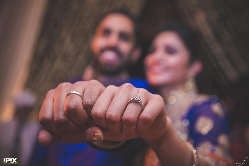 blue lehenga and blue Sherwani bride and groom Sikh wedding in Grand Hyatt Goa