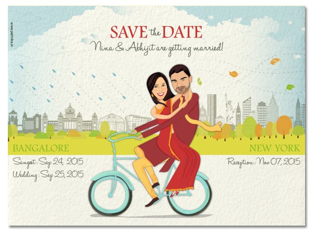 wedding invitations with caricatures